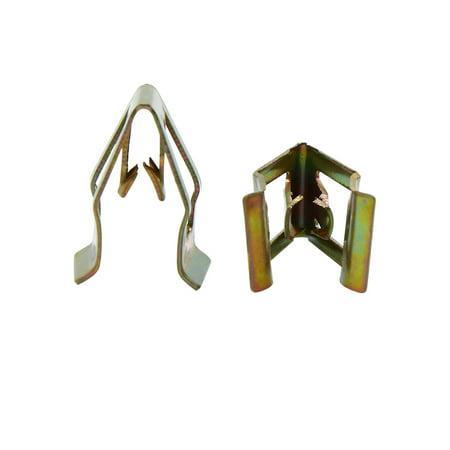 50pcs Bronze Tone Car Console Instrument Panel Dash Trim Metal Retainer Clips - image 2 de 2