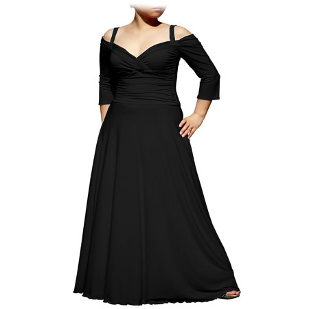 Evanese Womens Plus Size Elegant Long Formal Evening Dress With 34