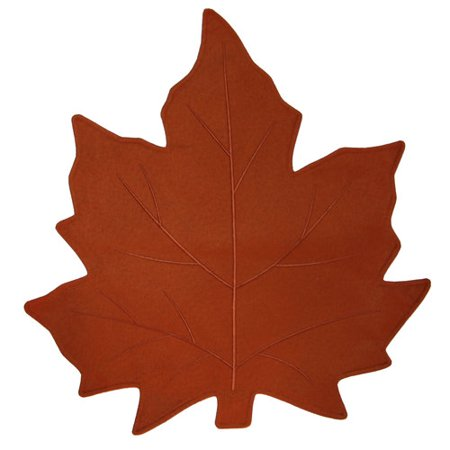 Better Homes And Gardens Shaped Leaf Placemat Orange