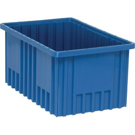 """3 Pack of 22 1/2"""" Deep x 17 1/2"""" Wide x 6"""" High Blue Dividable Grid Containers"""