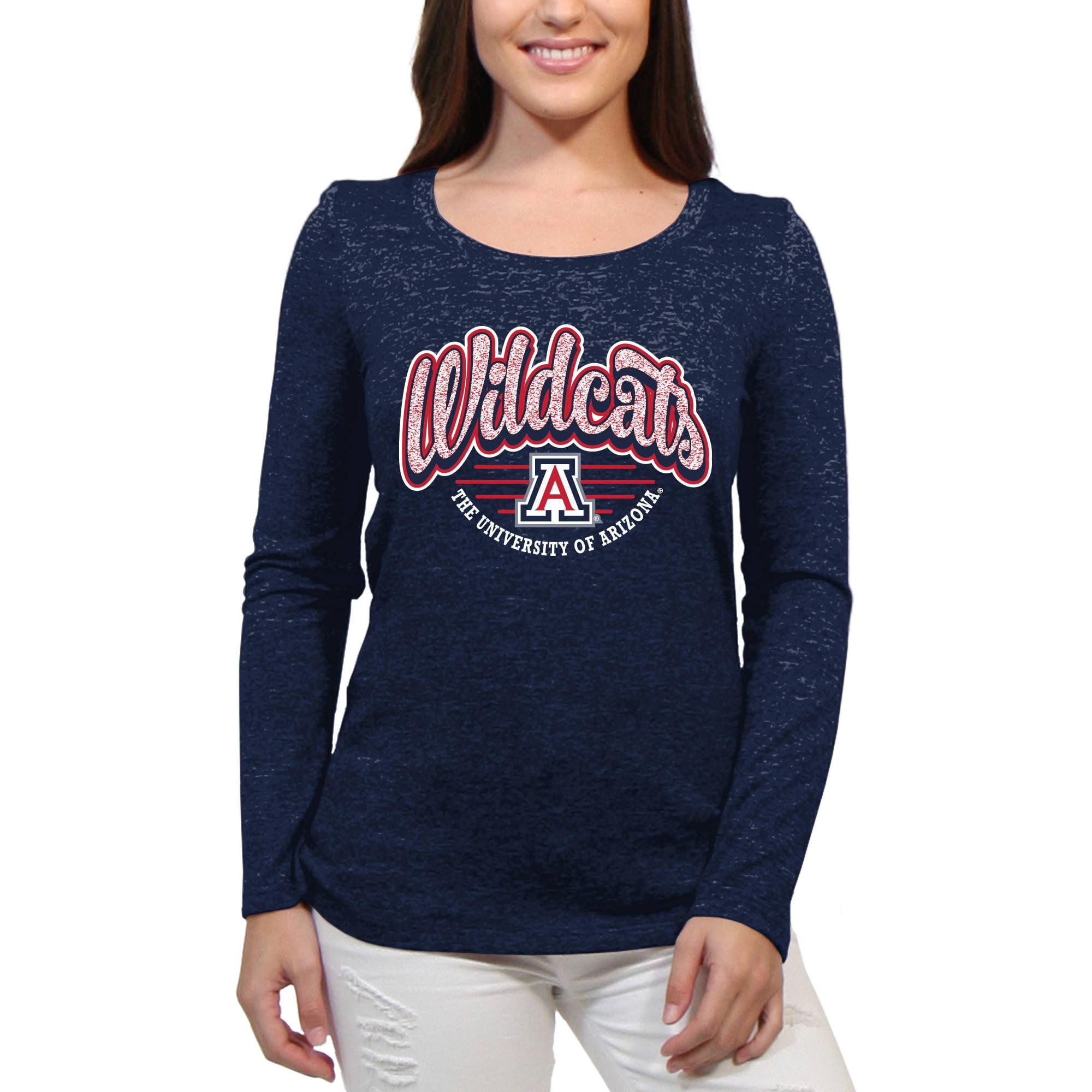 Arizona Wildcats Funky Script Women'S/Juniors Team Long Sleeve Scoop Neck Shirt