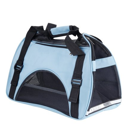 cfb2fa718c MABEE Pet Carrier Airline Approved Mesh Cat Tote Puppy Duffle Bag Foldable  Small Pets Travel Bag 17.3x12.6x9 inch - Walmart.com