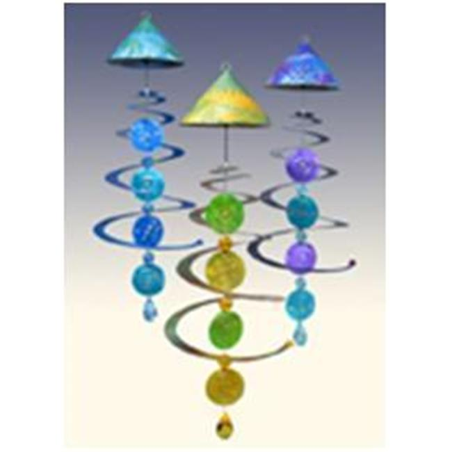 Sunblossom Solar Gifts MOBC1 gr-pr Solar Mobile - Green-Purple