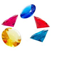 Acrylic Gemstone Diamonds (150 Count), Multicolored