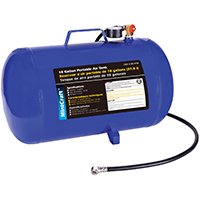 Star Rite AT10 Portable Air Tank, 10 gal, 4 ft x 1/4 in Air Hose and Tire Chuck, 85 - 125 psi