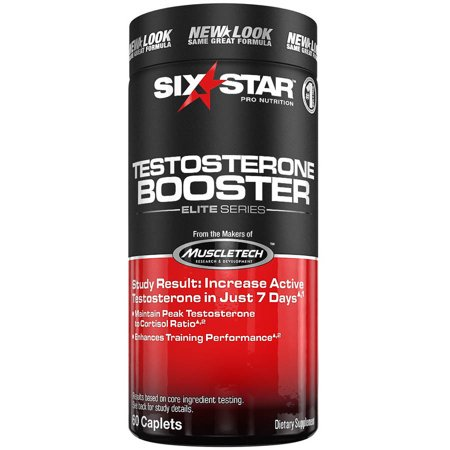 Six Star Testosterone Booster Supplement for Men, Enhances Training Performance & Muscle Growth, Maintain Peak Testosterone, 60 Caplets