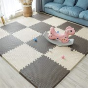 Jigsaw Floor for Chi Portable Crawling Mat for Baby with Edge Suitable for Chi's Play Area Bedroom Living Room - fect Home DecorationBeige+Brown9