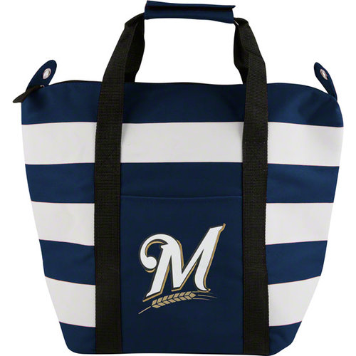 MLB - Milwaukee Brewers Freeze Striped Cooler Tote Bag