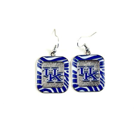 - Kentucky Wildcats NCAA Zebra Style Dangle Earrings