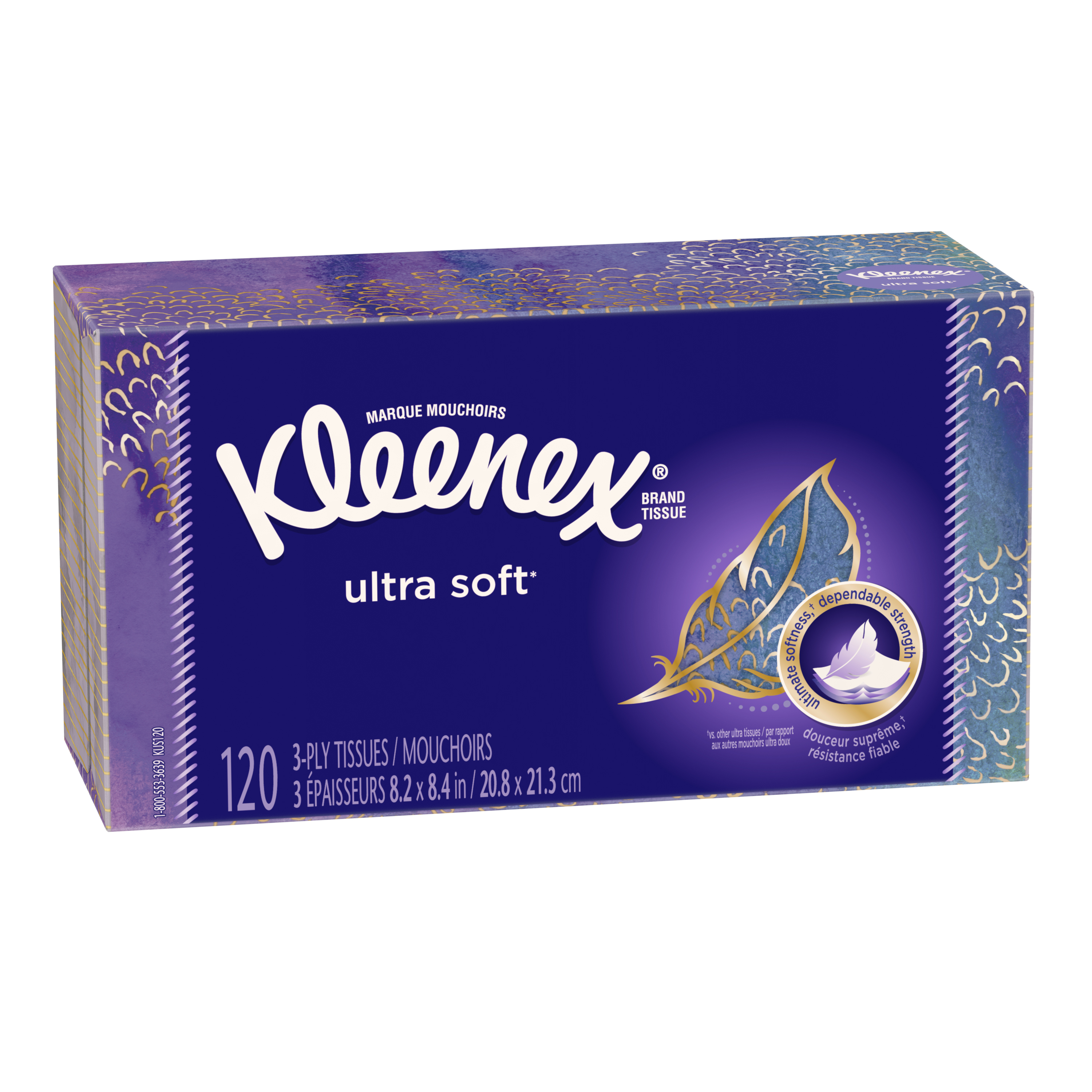 Kleenex Ultra Soft 3-Ply Tissues - 120 CT