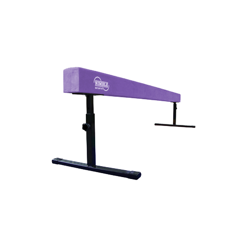 8ft Long Purple Adjustable Height Balance Beam by Nimble Sports
