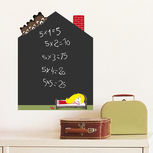 Retrospect Group Goldilocks' House Water Resistant Decorative Chalkboard Wall Decal