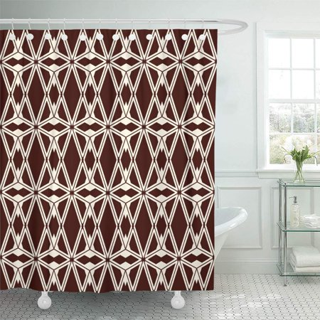 XDDJA Ethnic Abstract Diamonds Americans Ornamental Tribal Eclectic Boho Shower Curtain 60x72 inch - image 1 of 1