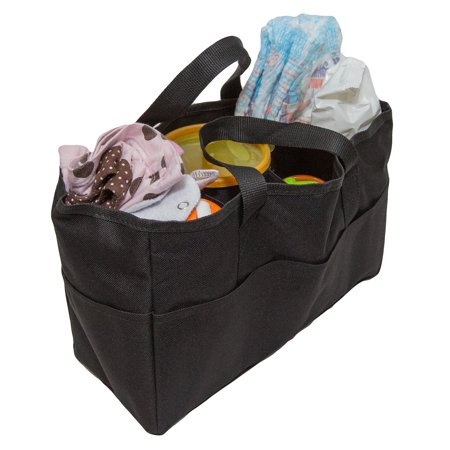 Bag Organizer Insert - Diaper Bag Insert Organizer for Mom with 5 Outside & 6 Inside Storage Pockets - Transform Any Mom's Purse, Handbag, Backpack, or Tote Bag