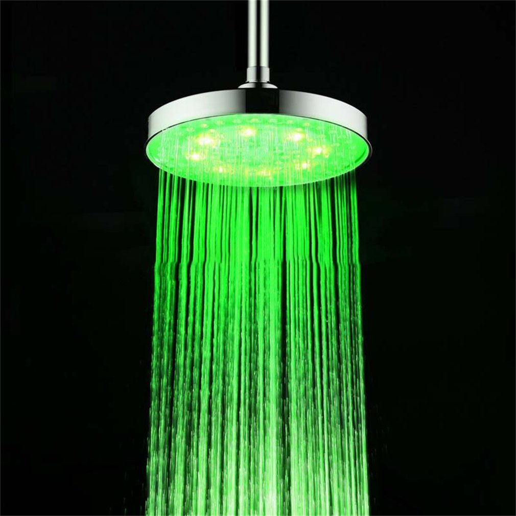 Eight Inches Special Color Top Shower Spray ABS Round LED Top Spray ...