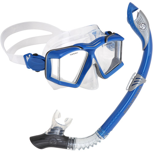 Side View Paradise LX Snorkel Set, Blue