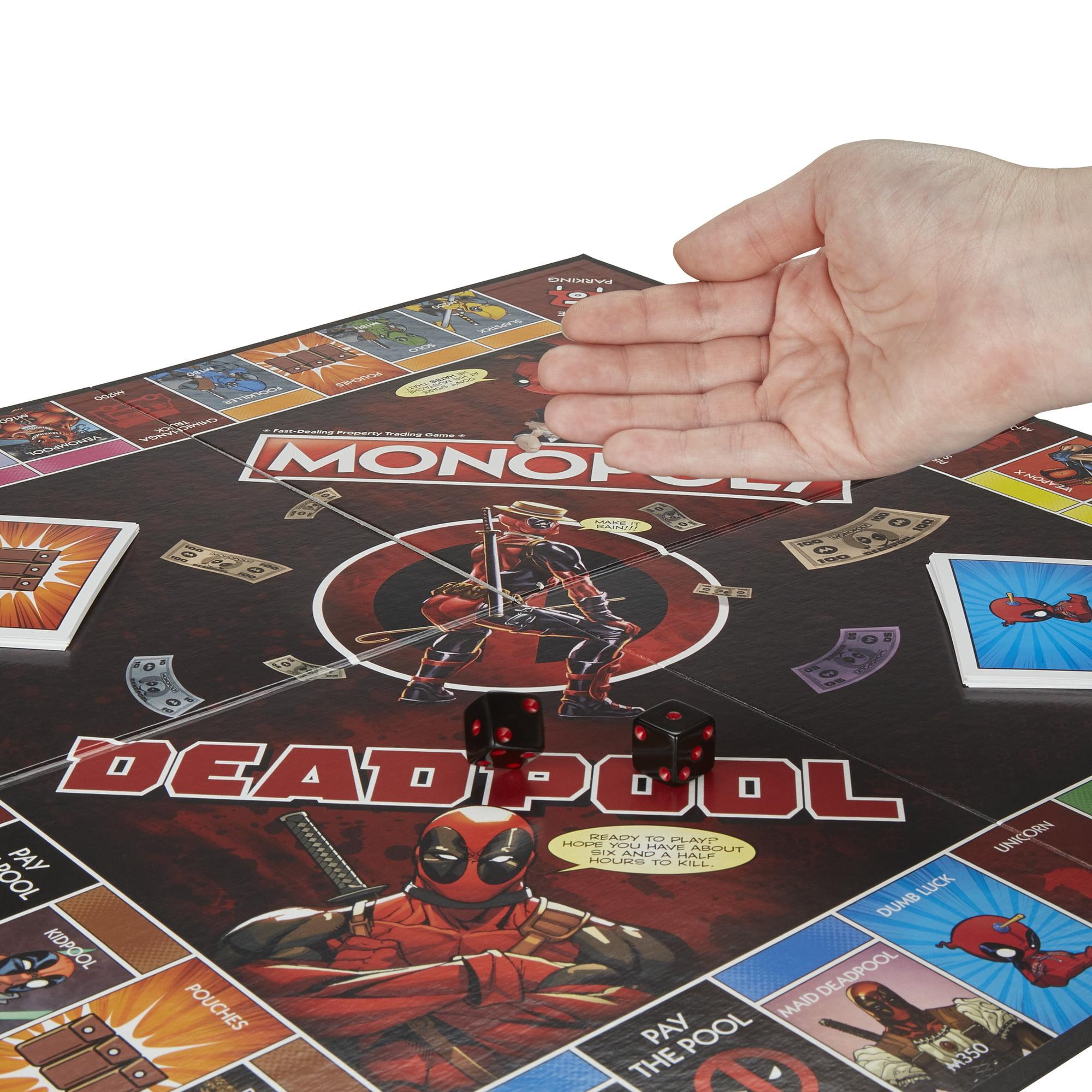 Deadpool Monopoly Edition Game Hasbro Gaming Marvel