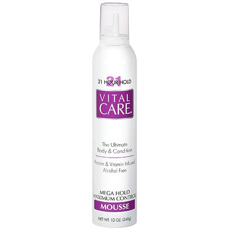 - (2 Pack) Vita Care 21 Hour Hold Mousse, 12 oz