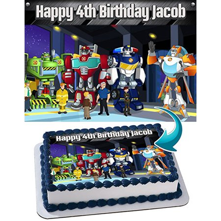 Baking Accs. & Cake Decorating Edible Sugar Frosting Sheet Cake Topper Latest Collection Of Transformers
