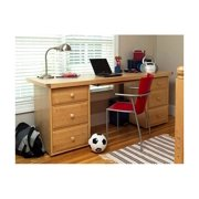 Kid's Desk w Dual Drawer Chests & Keyboard Tray