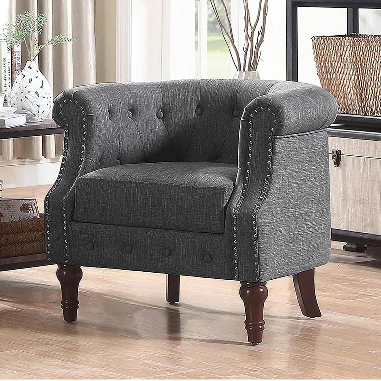 Alton Furniture Da Vigo Tufted Barrel Club Chair With Nailhead Trim Arms by Fully Wind Co, Ltd.