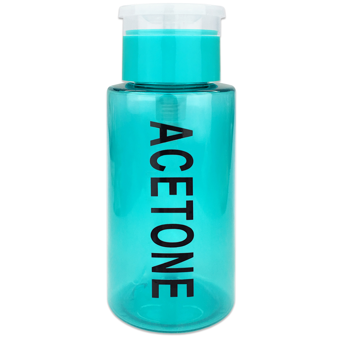 Pana High Quality 7oz Liquid Pump Dispenser With Acetone Label - Teal