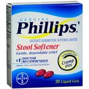 Phillips' Stool Softener Liquid Gels 30 Liquid Gels (Pack of 3)