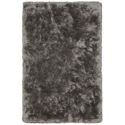 Chandra Rugs Giulia Textured Contemporary Shag Gray Area Rug