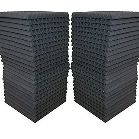 FoamEngineering Acoustic Panels Studio Soundproofing Foam Wedge Tiles, 12 X 12-Inches, 48 Pack Ps Engineering Audio Panel
