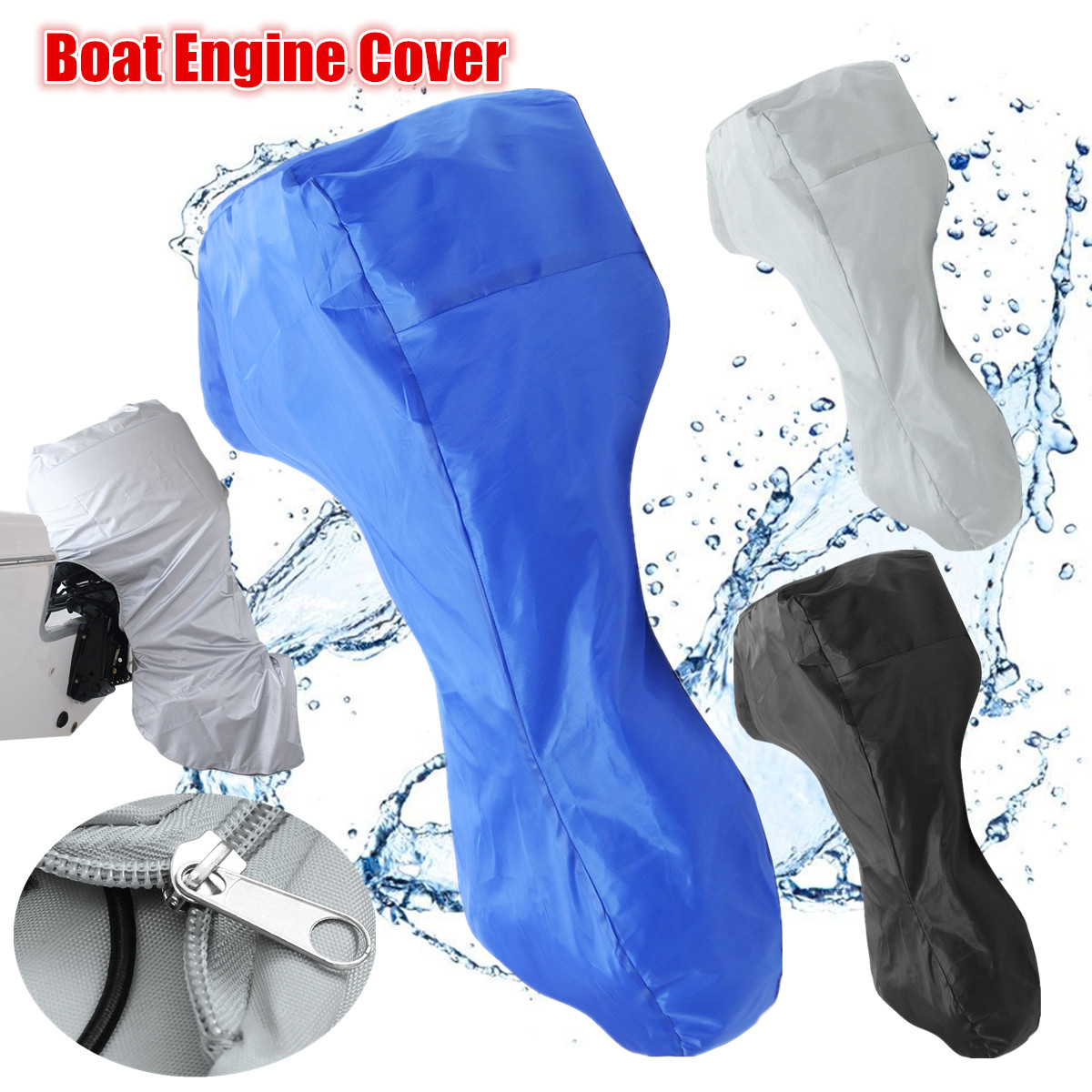 Boat Full Outboard Motor Engine Cover Fits Up to 100-150HP 81x85x70/'/' Waterproof