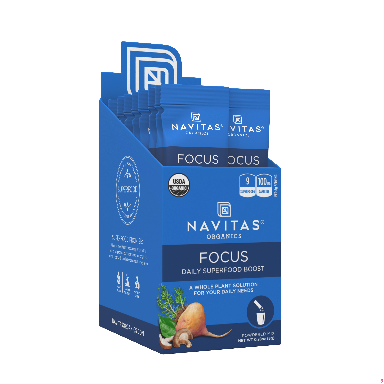Navitas Organics Daily Focus Boost Stick-Pack, 0.28 oz., 15 ct