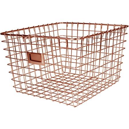 Spectrum Medium Storage Basket, Copper - Cornucopia Baskets