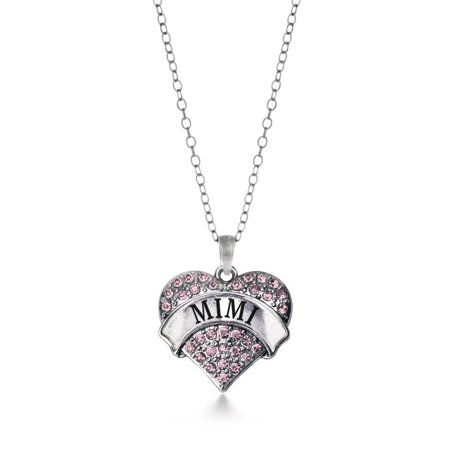 Mimis Heart (Mimi Pink Pave Heart Necklace)