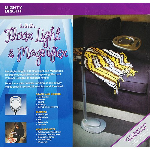 Mighty bright led floor light magnifier with flex neck walmart aloadofball Image collections