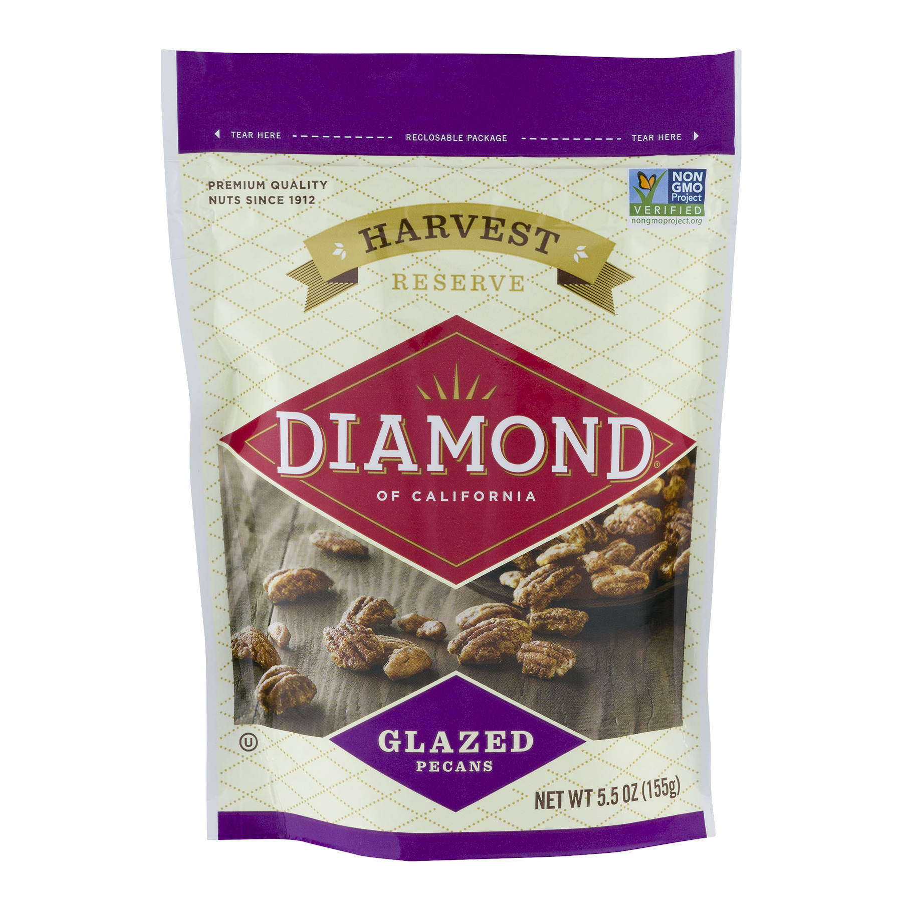 Diamond Of California Harvest Reserve Glazed Pecans, 5.5 OZ