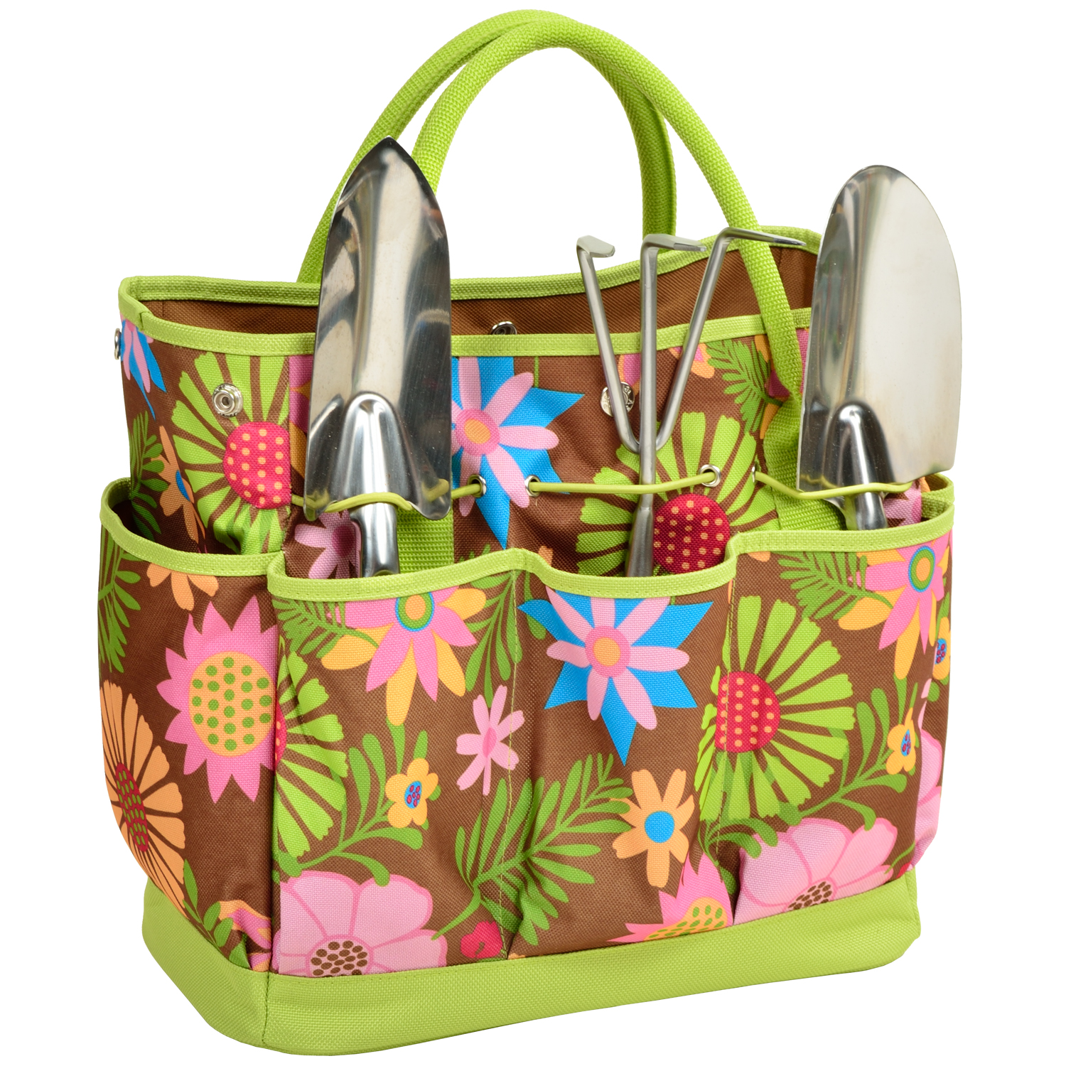 Picnic at Ascot Floral Gardening Tote with Tools (341-F)
