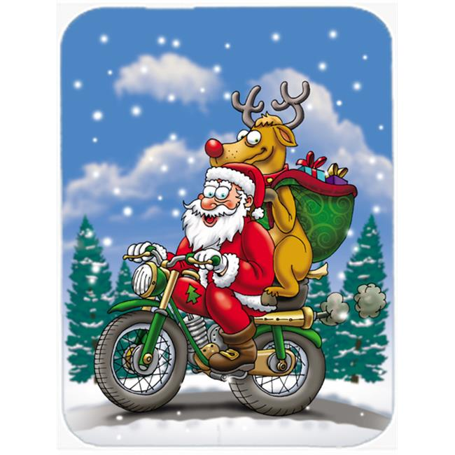 Carolines Treasures APH8996MP Christmas Santa Claus on a Motorcycle Mouse Pad, Hot Pad or Trivet - image 1 de 1