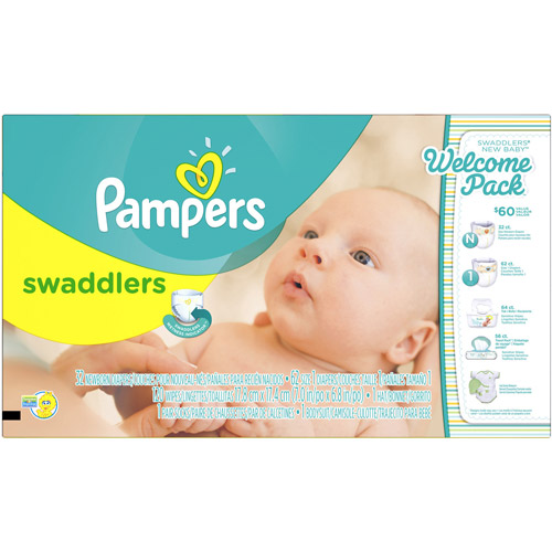 Pampers Swaddlers Diapers, New Baby Welcome Pack, 5 pc Gift Set ...