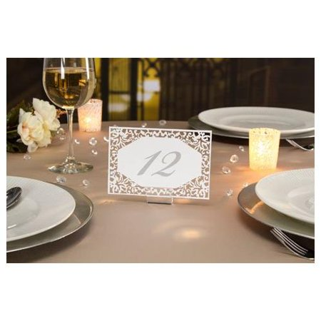David Tutera™ Illusion Die Cut Lace Paper Table Number Cards - 25 Pieces](Lace Paper)