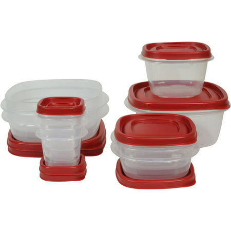 Rubbermaid Easy Find Lids Food Storage and Organization Containers, Set of 9 (18 Pieces (Pyrex 10 Piece Storage Set With Lid)