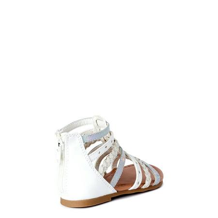 Wonder Nation Braided Gladiator Sandals (Little Girls & Big Girls)
