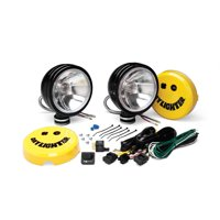 KC HiLites 234 Daylighter Spread Beam Halogen Light; 6 in. Round; Clear Lens; Black Housing; 100 Watts; Pair;