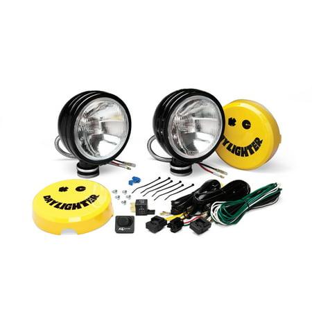 Lighting Spread Lens (KC HiLites 234 Daylighter Spread Beam Halogen Light; 6 in. Round; Clear Lens; Black Housing; 100 Watts;)