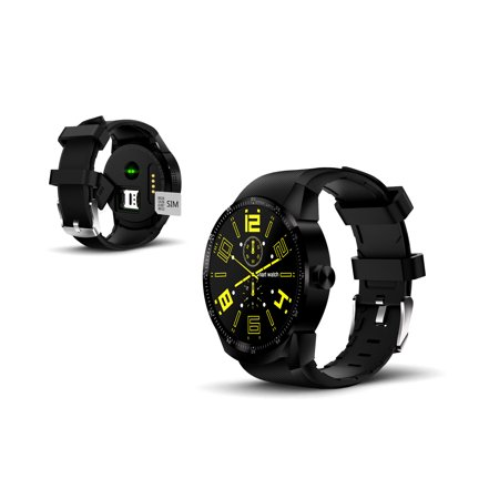 2019 1.3-inch SmartWatch by Indigi® - DualCore CPU - Android 4.4.2 OS - GPS - Pedometer - (Best Hotmail App For Android 2019)