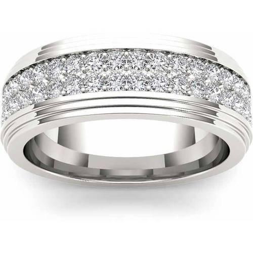 Imperial 1-1/6 Carat T.W. Diamond Men's 14kt White Gold Wedding Band
