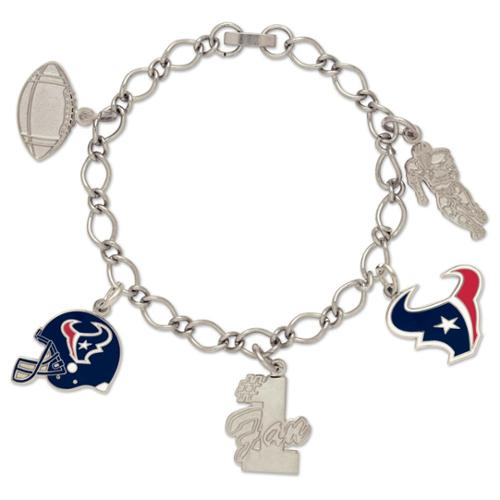 Houston Texans Official NFL 7 inch  Charm Bracelet by Wincraft