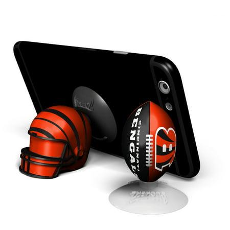Cincinnati Bengals 2-Pack Football & Helmet Suckerz - No - Bengals Helmet