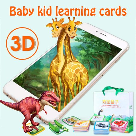 Digoo AR Education Card,108 Pcs Early Learning Interactive Educational 3D Baby kid learning cards With (Best Virtual Baby App)