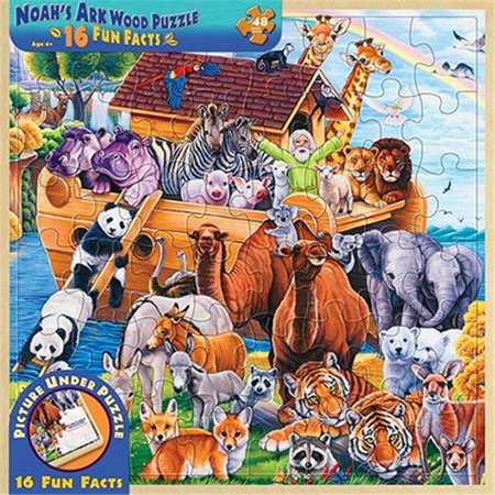 (MasterPieces Wood Fun Facts of Noah's Ark - 48 Piece Kids Puzzle)