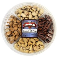 Gourmet Nuts Sampler Gift Tray 4-Section by It's Delish